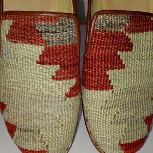 Vintage Shoes - Vintage Kilim Tapestry Slides